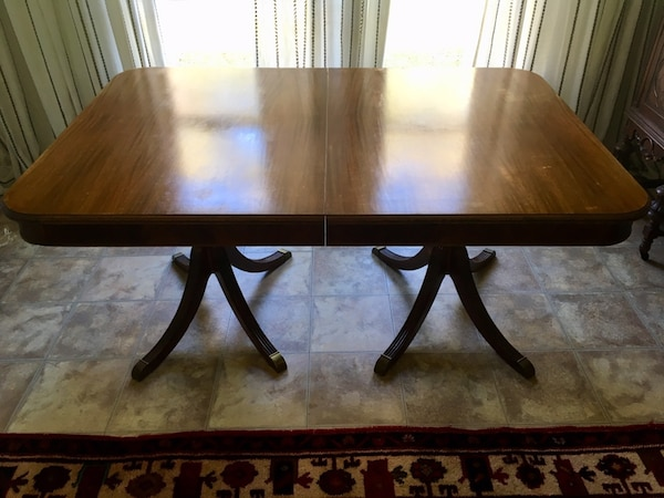 Pleasing Antique Mahogany Table With Brass Claw Feet 2 Extension Leaves Theyellowbook Wood Chair Design Ideas Theyellowbookinfo