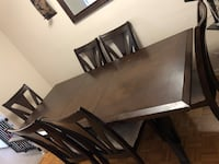 brown wooden table with 6 chairs Toronto, M3N 1J7