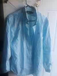 blue and white plaid dress shirt Falls Church, 22046