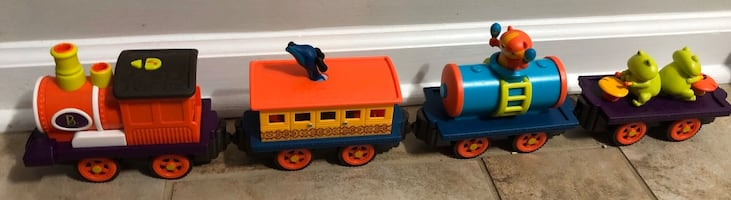 Motorized toy train