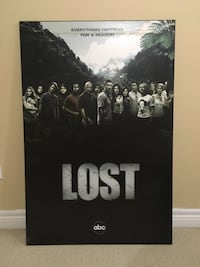 LOST mounted promo poster