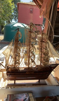 Wooden sail boat.  Hollister, 95023