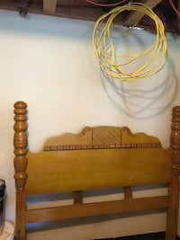 1900 waterfall antique bedroom set. Headboard, footboard, chest, dresser and mirror.