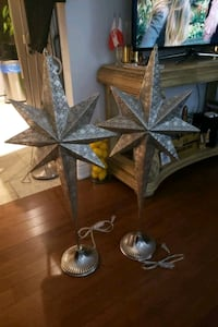 Silver metal stars light's up price for both 41'tall  Oakville, L6H 2K3