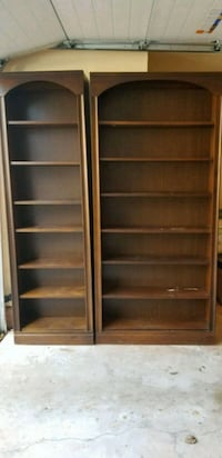 PAIR OF BOOKCASES-WOODEN Sterling, 20165