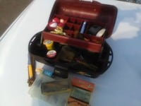 FISHING BOX WITH OLD, OLD TACKLE AND LURES Mesa, 85204