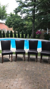 $20 each five brown pleather padded chairs  Aurora, L4G 6R9