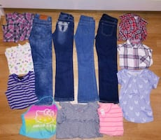 Lot of girl clothes size 10/12 years..Firm Price