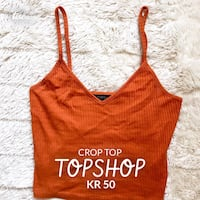 Orange croptop fra Topshop Fyllingsdalen, 5146