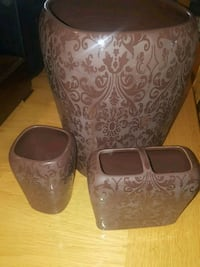 Brown Ceramic Bathroom  3 piece Set Calgary, T2Y 2W5