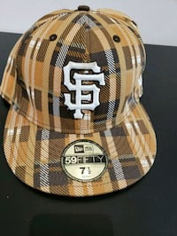 SF Giants Brown Plaid 59Fifty New Era Fitted Cap Oakland, 94611