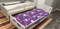 white and purple wooden bed frame Upper Marlboro, 20774