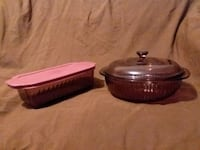 Vintage 1.5 & 2 Quart Pyrex Dish & Bowl  Center Point, 35215