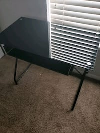 Glass top Office desk with keyboard drawer