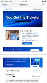 Two tickets to Ladies night out Alexandria