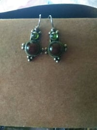STERLING SILVER peridot carnelian stamped 925 $25. Chico, 95926