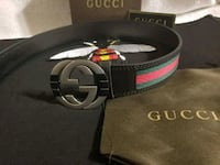 black Gucci leather belt with box Los Angeles, 90059