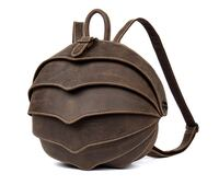 MANTIME BEETLE HANDMADE CASUAL LEATHER BACKPACK IN BROWN