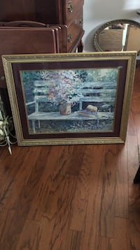 painting of plant with brown wooden frame Hamlet, 28345