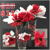 Flower Pens Decor: white and red  Montclair, 91763