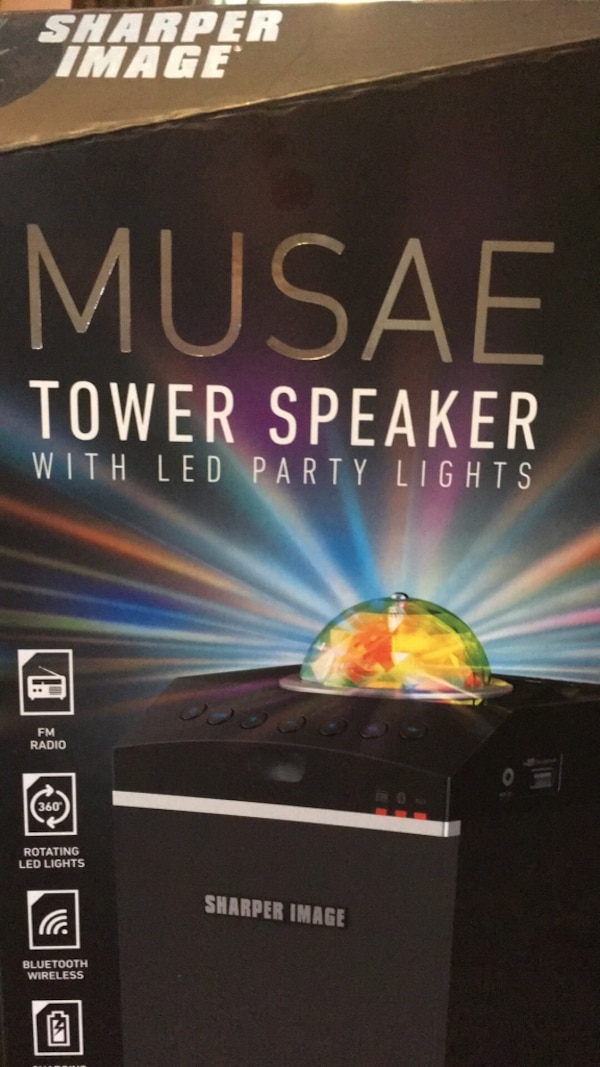 Used Musae Tower Speaker With Led Party Lights For Sale In Watertown