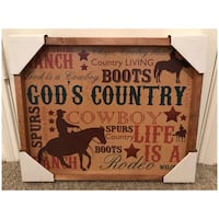 NEW, Country Wooden Frame Wall Art 20x16