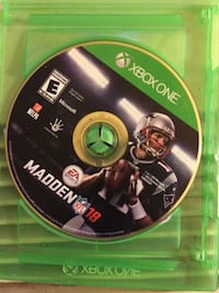 Xbox one madden nfl 18 game disc West Haven, 06516