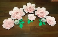 Paper flowers Pink colour.