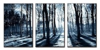 bare trees 3-panel artwork Niagara Falls