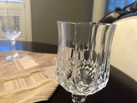 Crystal d'Arques longchamp. Set of 8 water glasses Laval, H7X 3K1