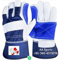 Safe hand palm leather gloves