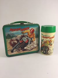 Rare Vintage Rough Rider Lunchbox With Thermos Indianapolis, 46203