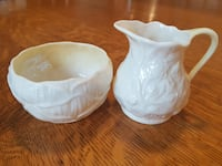 Belleek Creamer & Open Sugar Bowl Set (Not Matching Pair So Will Split Up) $25.00 ea or $45.00 for the pair! Ottawa