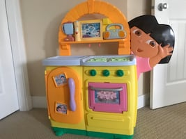Dora kitchen with Dora dollhouse