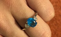 Blue and CZ Stone Sterling Silver Ring Fort Pierce, 34982