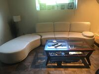 White leather sectional couch 3727 km
