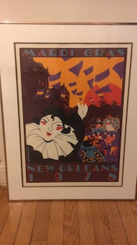 Numbered Mardi Gras 1978 print Chevy Chase, 20815