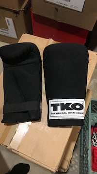 pair of black-and-white TKO boxing gloves Calgary, T2Y 2T4