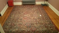 Vintage Persian Oriental hand knotted wool rug