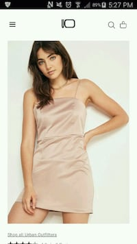 UO Satin Shift Dress -Pink Toronto, M3J 0G5