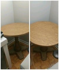 round brown wooden table with two chairs Dorval, H9S 1B5