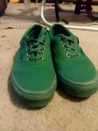 "All green/gold ""Vans"" shoes"