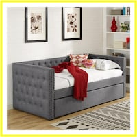 Gray Day Bed with Trundle Windsor Mill