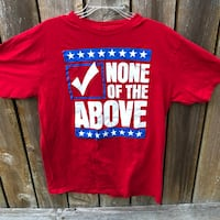Voting None Of The Above Funny Politics t-shirt adult mens womens XL Independence, 97351