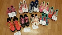 nine pairs of shoes