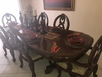 black wooden dining table set Las Vegas, 89103