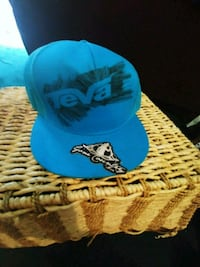 blue and black fitted cap Oliver, V0H 1T0