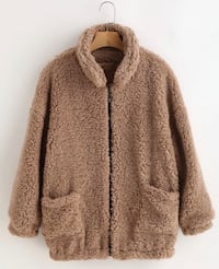 NWT Brown fuzzy jacket size small  Vancouver, V6T
