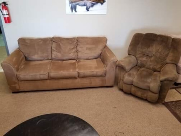 Excellent Brown Couch And Recliner Chair Set Andrewgaddart Wooden Chair Designs For Living Room Andrewgaddartcom