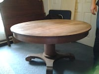 Antique Round Oak Table TAMPA